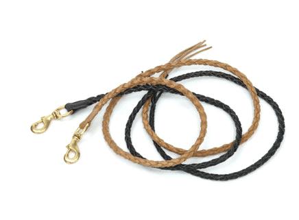 Træktov flettet læder