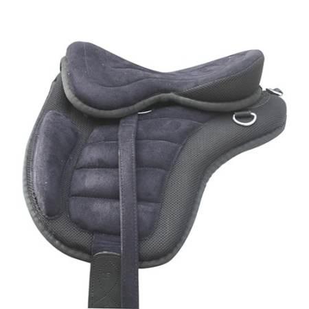 Pony sadel af knust læder