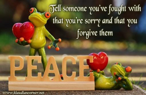 TGIF ~ Freddy Frog's random acts of kindness