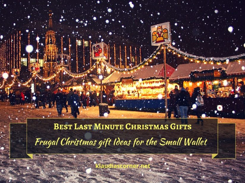 Best Last Minute Christmas Gifts - Frugal Christmas Gift Ideas For The Small Wallet