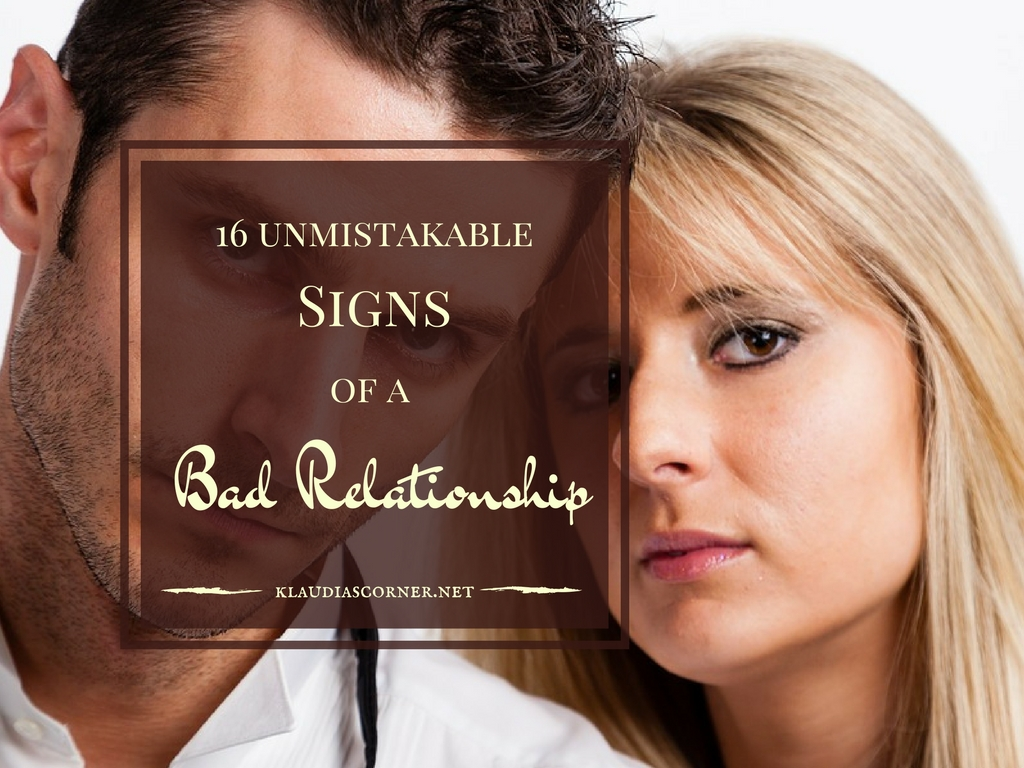 signs your in a bad relationship