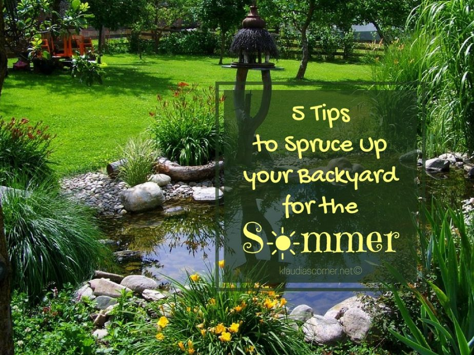 5 Tips To Spruce Up Your Backyard For The Summer