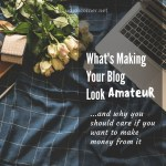 How To Blog And Make Money From It – What's Making Your Blog Look Amateur