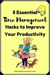 Time management tips to improve productivity - ©klaudiascorner.net