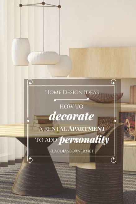 Apartment Design Ideas - How to Decorate a Rental Apartment to Add Personality