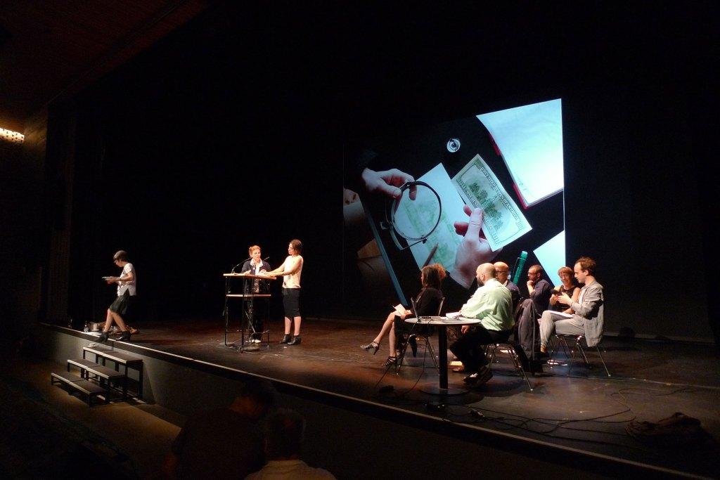 COLLECTIVE TASK, 2014, Akademie der Künste, Berlin, performance during the poetry festival