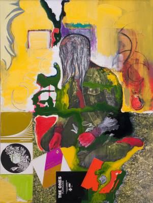 Klaus Killisch, silence, 2014, mixed media on canvas, 200 X 160 cm