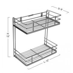 Stainless Steel Kitchen Racks Narrow Table Klaxon Wall Mounted Double Shelf