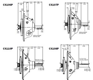 CX Clutch 106, 107, 108, 110 Comparison