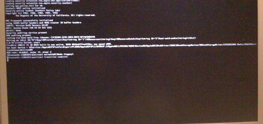 Il mio MacBook Pro durante la fase di avvio in modalità verbose