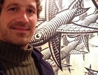 Stephen Augustus Kleckner alla mostra di Escher