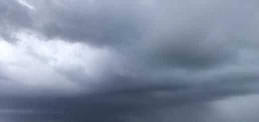 Fotografia del mare direzione Sud durante allerta meteo a Genova del 21 ottobre 2019