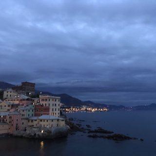fotografia panorama Portofino da Boccadasse di Genova