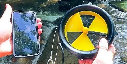 screenshot video ricarica wtaerlily turbina smartphone