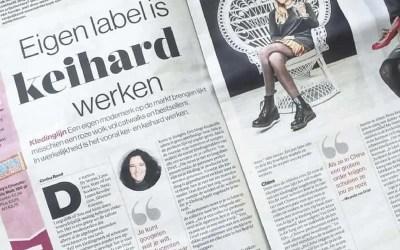 Opzetten eigen label in de krant