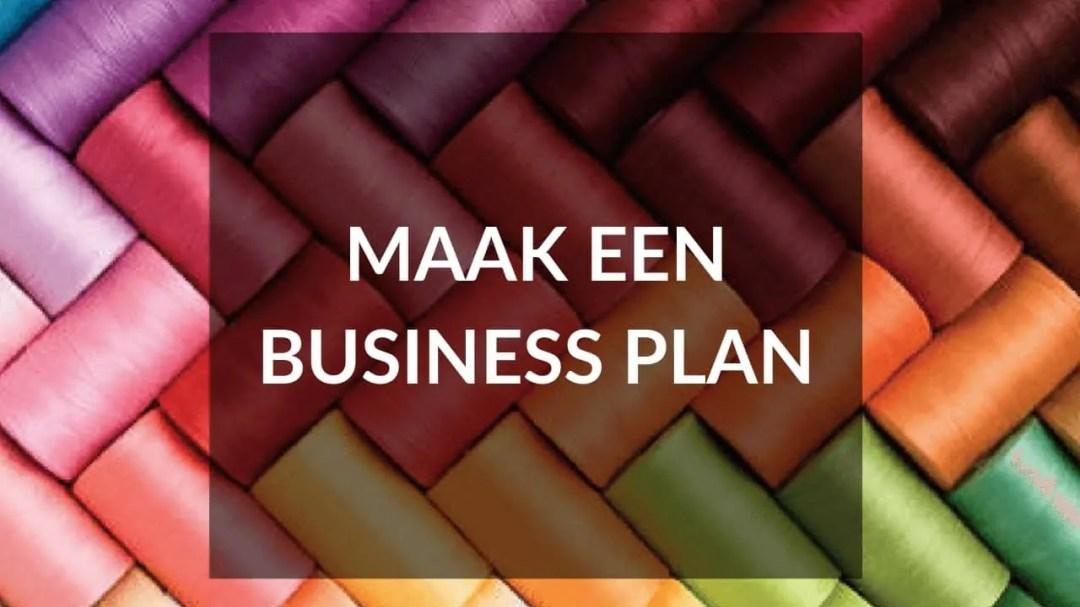 Start je eigen kledinglijn - Tip 2 - Maak een business plan