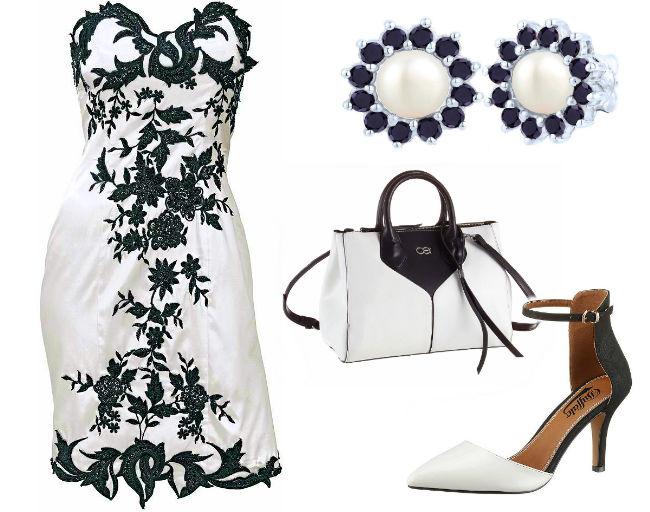Outfit Schwarz Wei zum kombinieren  zusammenstellen finde hier deine Inspiration zum nachmachen  Kleider bis zu 87 gnstiger Online kaufen