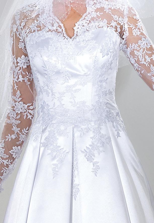 Brautkleid abnehmbare Schleppe und lange rmel