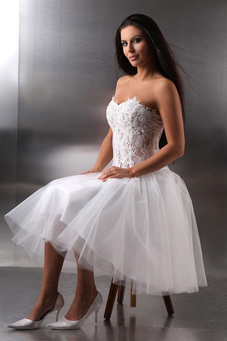 Kurzes 50er Jahre Brautkleid wei  Kleiderfreuden