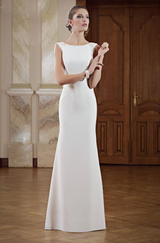 Elegantes schmales Brautkleid  Kleiderfreuden