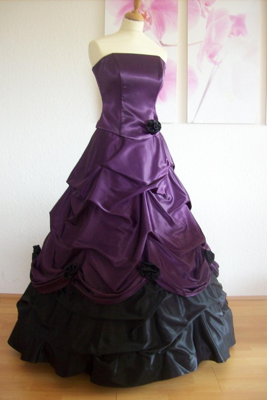 Ballkleid schwarz lila  Kleiderfreuden