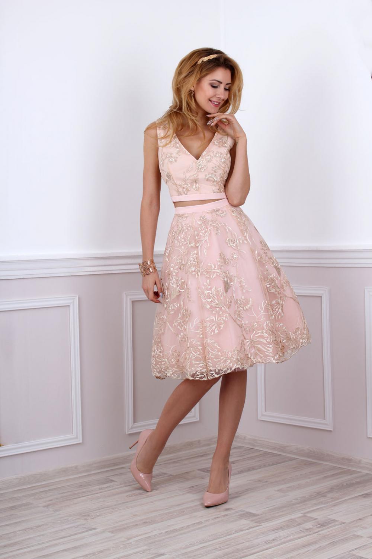Kleid fr standesamtliche Trauung in rosa gold  Kleiderfreuden