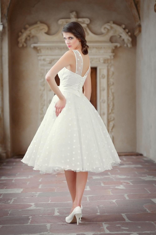 Rockabilly Hochzeitskleid mit Punkten  Kleiderfreuden