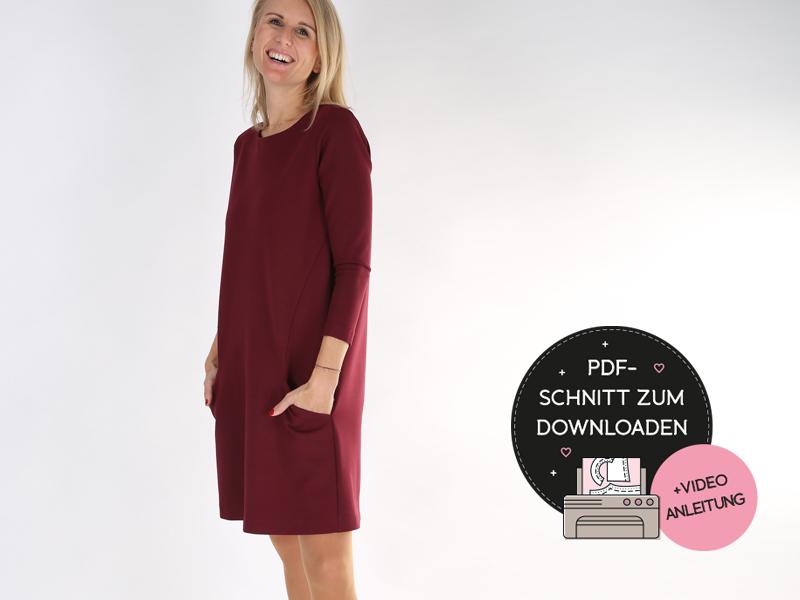 Kleid a linie kostenloses schnittmuster Fabrik der