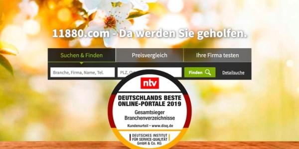 11880.com ist unter den deutschen Branchenverzeichnissen das beste Online-Portal