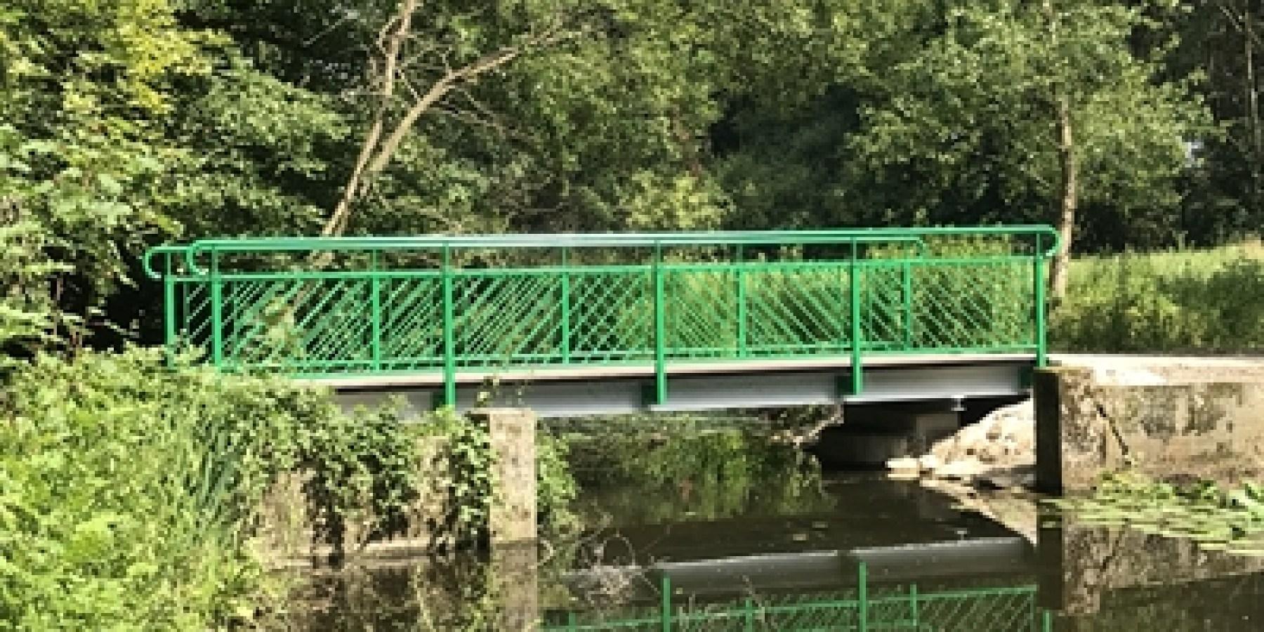Neue Brücke am Wersewanderweg