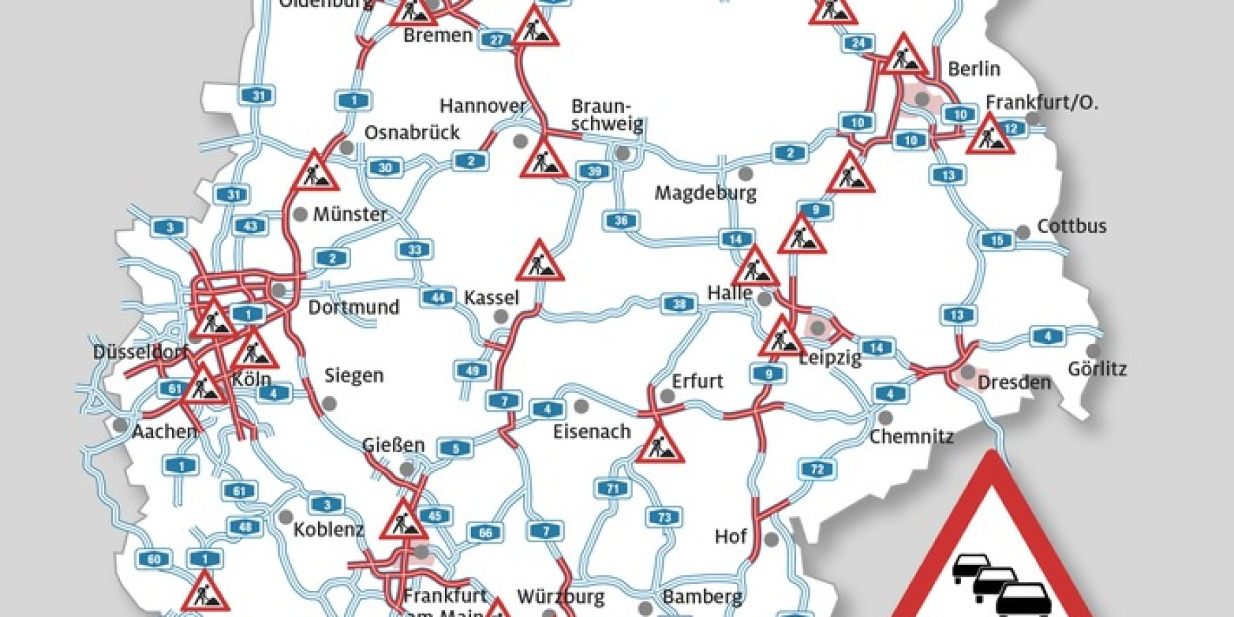 Rückreisewelle verstopft Autobahnen im Süden