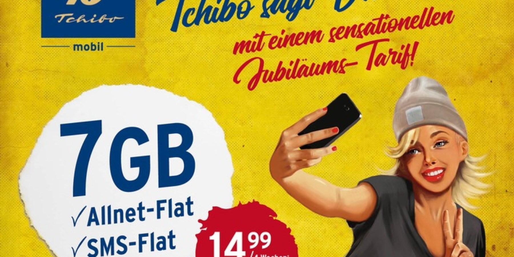 Jubiläums-Tarif mit 7 GB Daten für 14,99 Euro