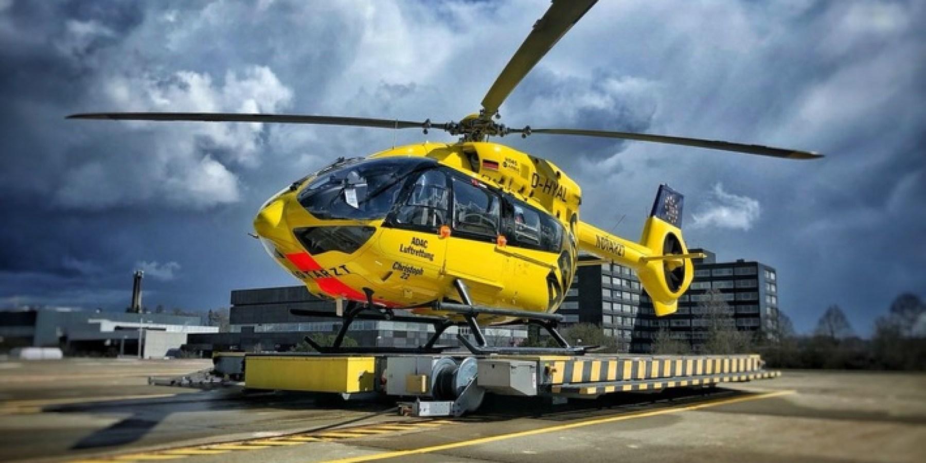 Erste Corona-Patienten mit ADAC Rettungshubschraubern transportiert