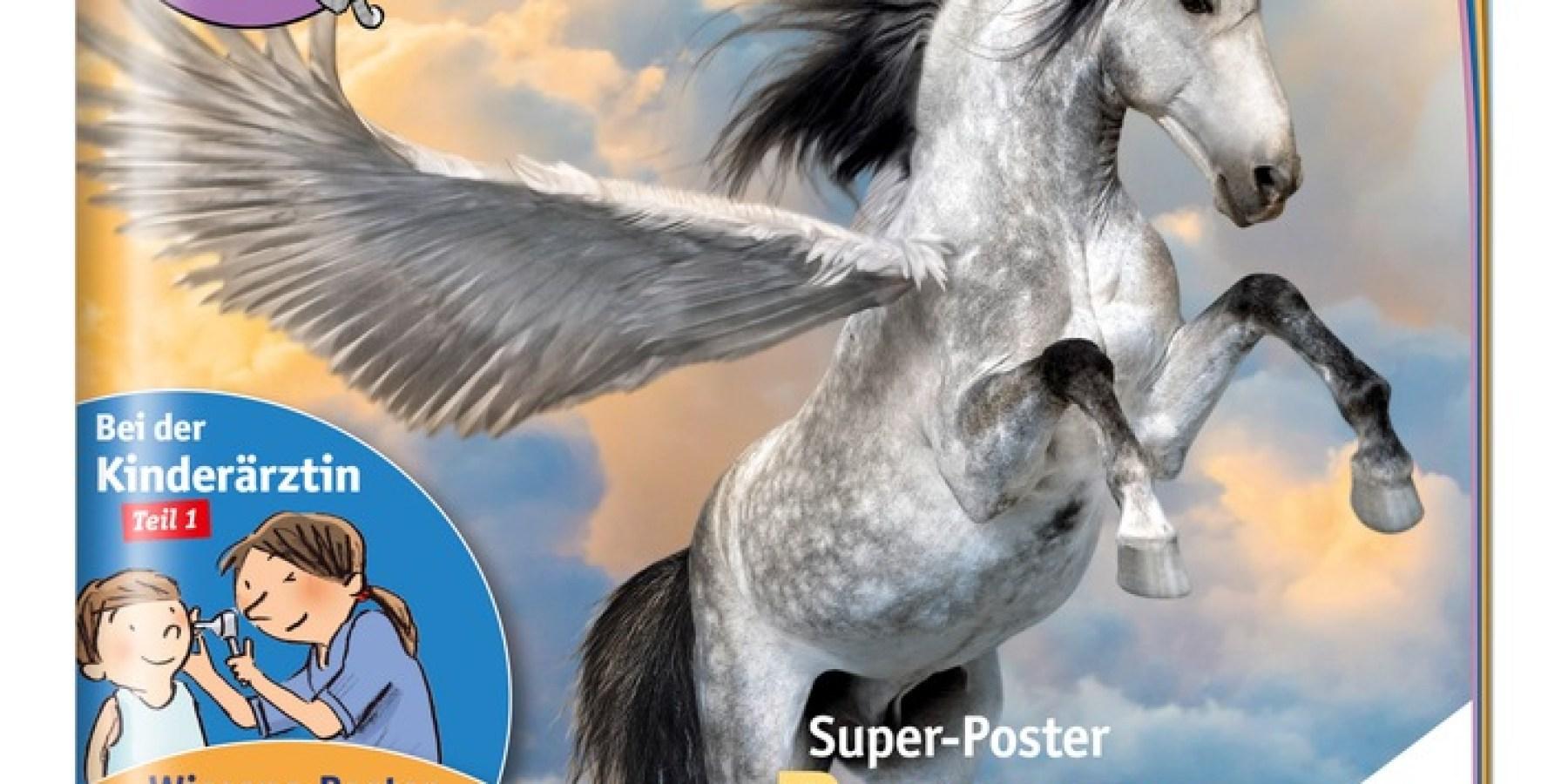 medizini mit Super-Poster Pegasus, dem mystischen Pferd