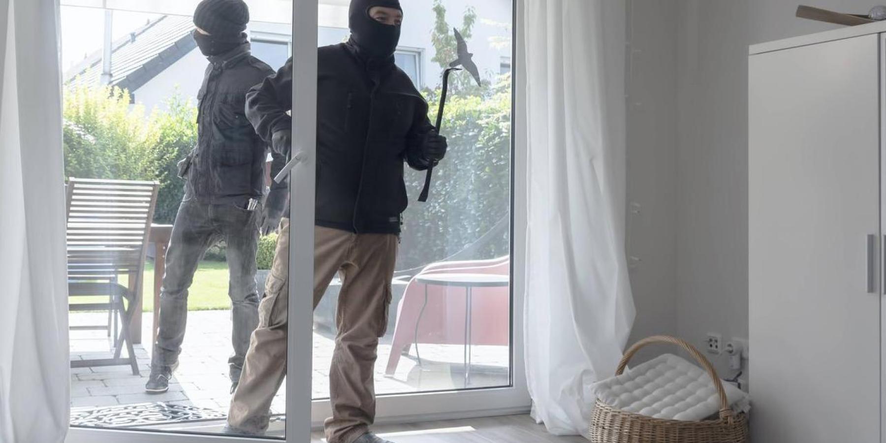 Einbrecher kommen durch den Garten und nehmen Pelzmantel mit