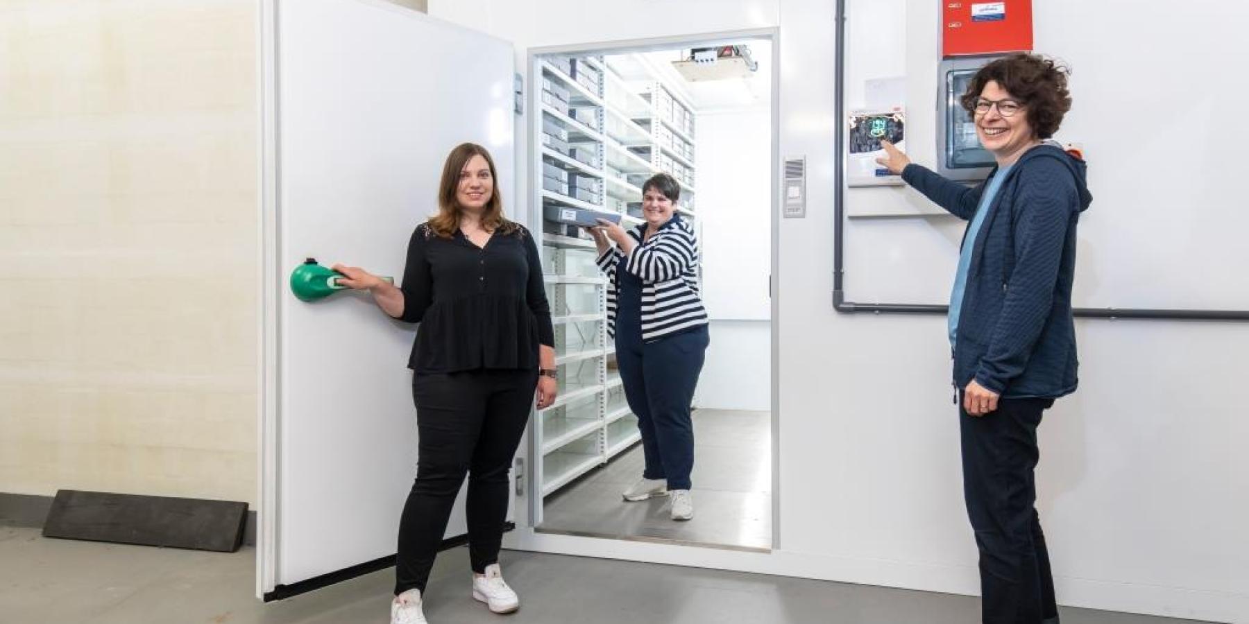 Neue Kühlzelle schützt wertvolle Negative