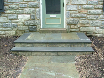 Examples of Five Different types of Bluestone  Flagstone Steps  Newtown Square PA from Robert
