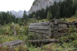 Reste der Hütte der Landtalalm