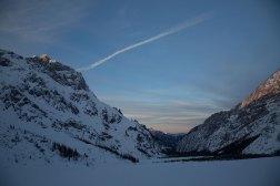 Wimbachgries bei Sonnenuntergang