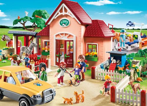Spielzeug des Monats: Die Playmobil Tierarztpraxis mit Gehegen