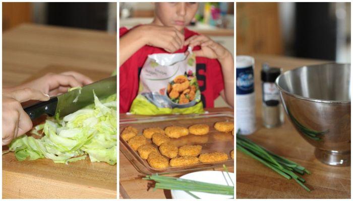 Kinderleichte Zubereitung der Veggie Nuggets