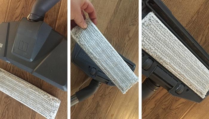 Als Zubehör erhältlich ist das Microfleece für Parkettböden