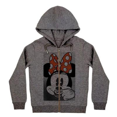 LITTLE ELEVEN PARIS hooded sweatshirt minnie dark grey