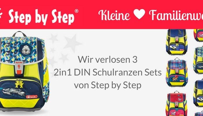 Wir verlosen drei 2in1 DIN Schulranzen-Sets von Step by Step!