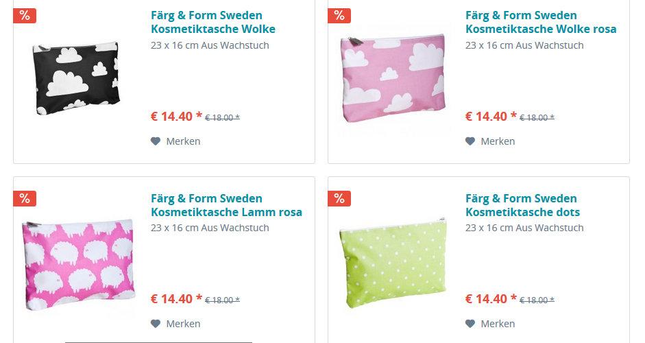Kosmetiktaschen von Färg & Form Schweden reduziert