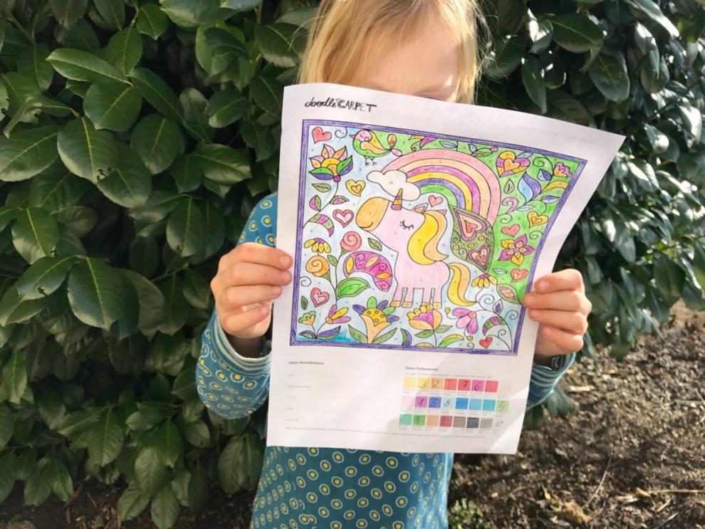 Malen nach Zahlen - doodle Carpet Vorlage