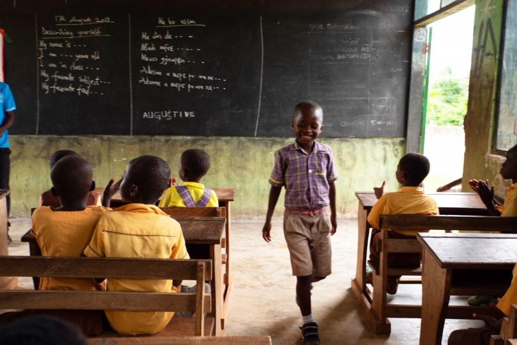 Eine Schule in Afrika