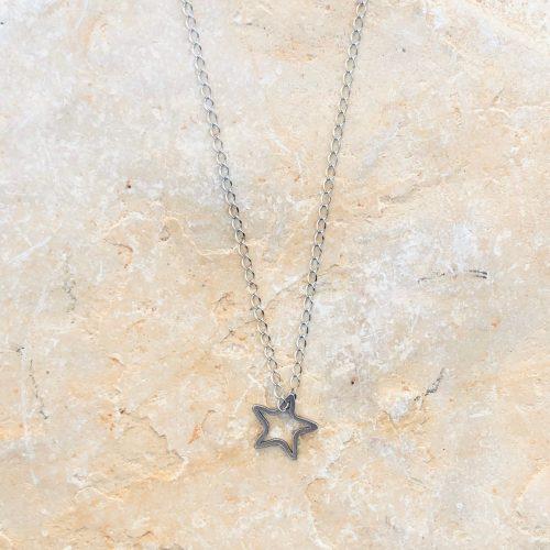 Sternkette silber