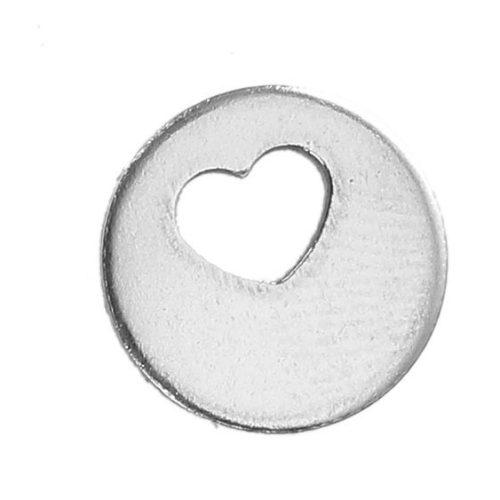 Herzplättchenkette silber