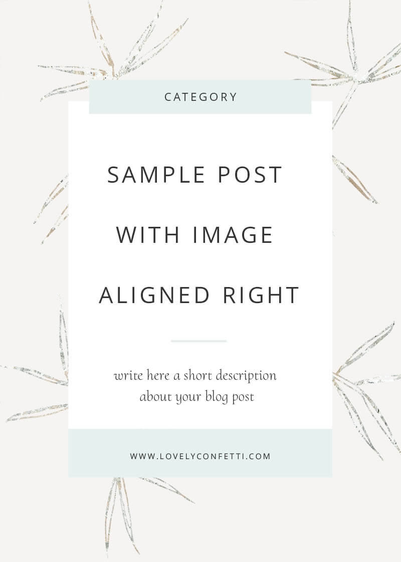 Sample post with image aligned right